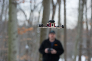 The Woodrone in flight.