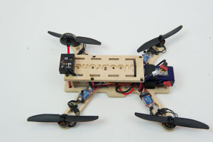My Woodrone - all plywood quadcopter made on a Stepcraft CNC using a Dremel for a spindle.