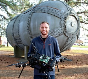 UnrealWorx CEO/Founder - Zachary Johns - Holding the EiKON VTOL UAV